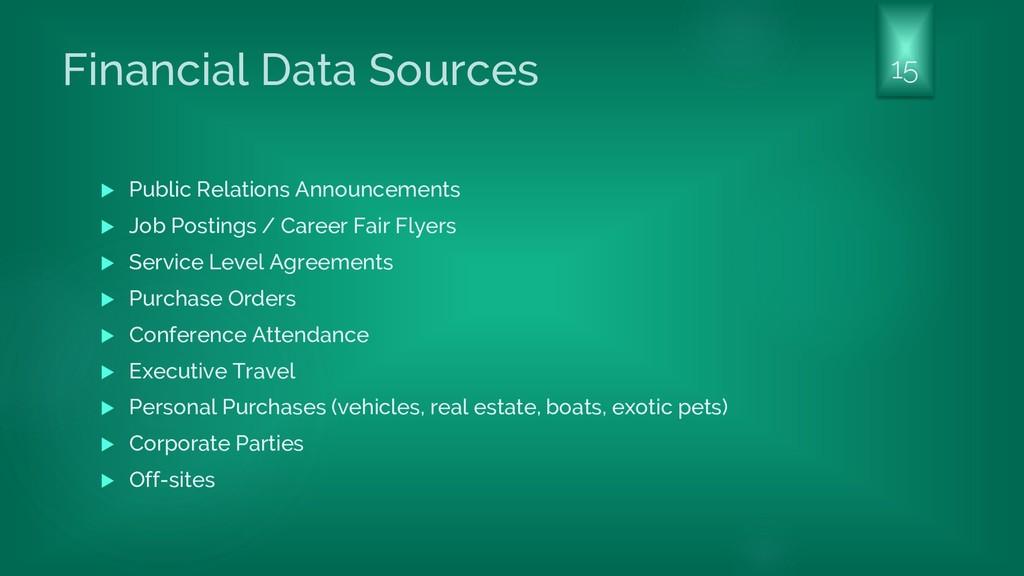 Financial Data Sources  Public Relations Annou...