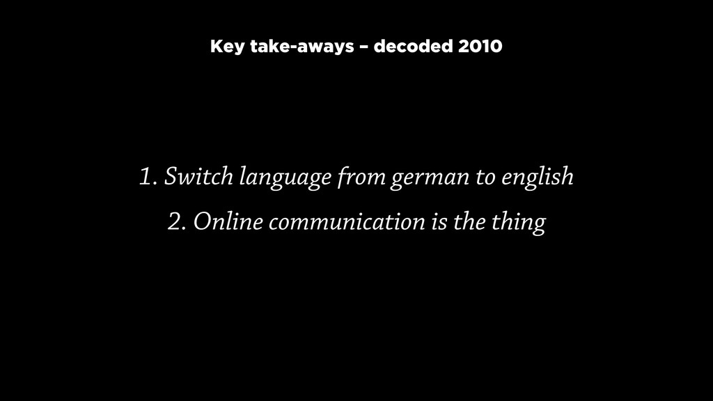 1. Switch language from german to english
