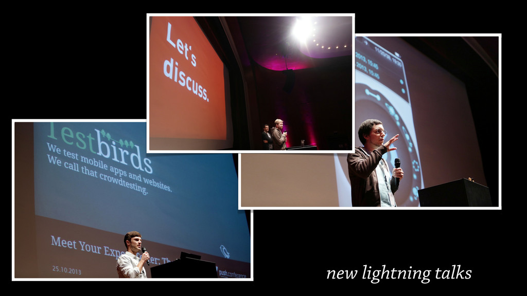 new lightning talks
