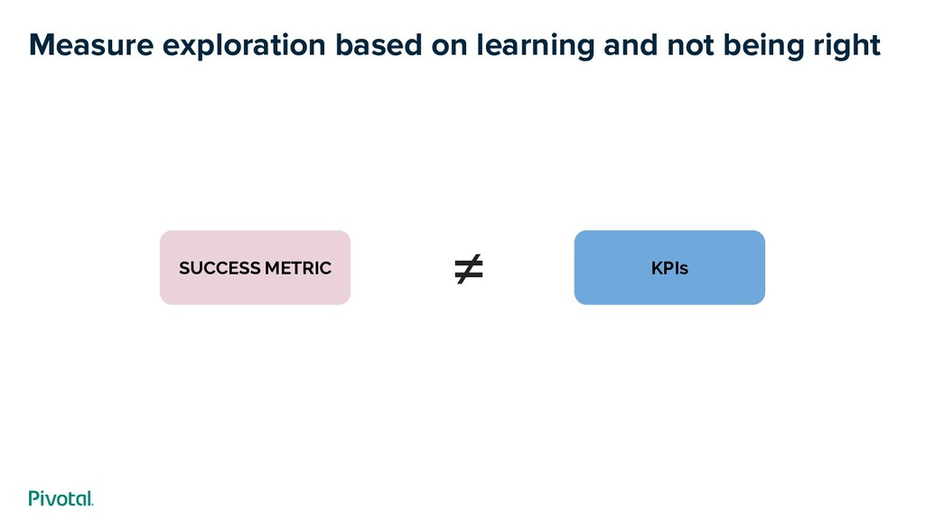Measure exploration based on learning and not b...