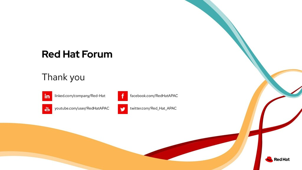 Thank you Red Hat Forum linked.com/company/Red-...