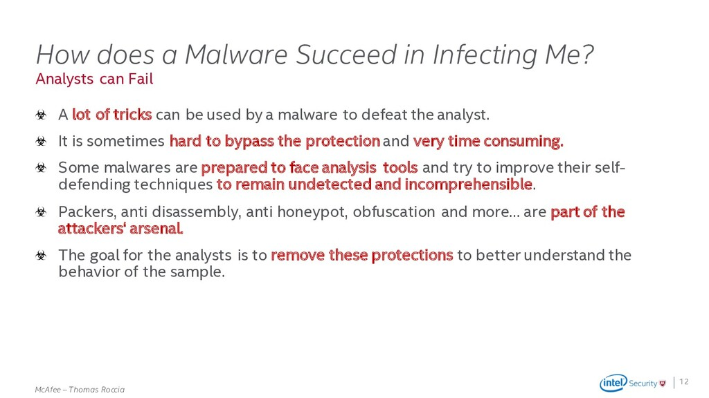 . McAfee – Thomas Roccia Analysts can Fail How ...