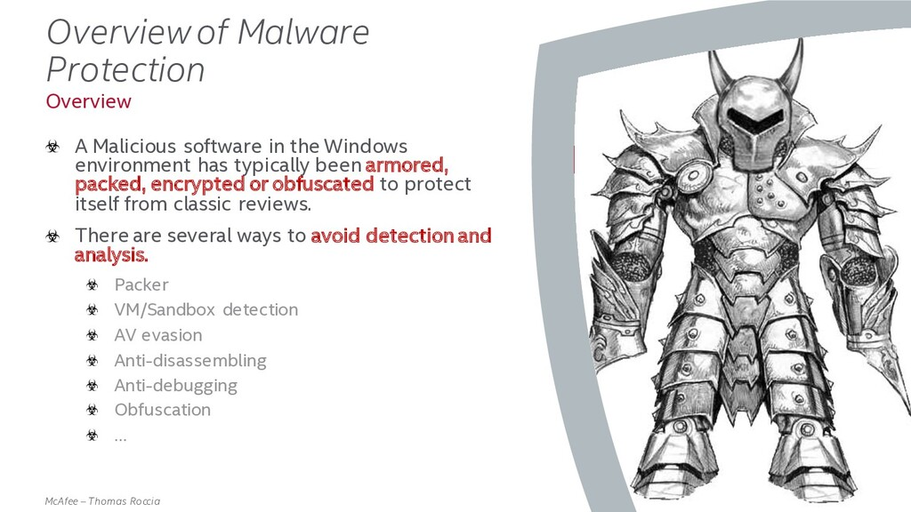. McAfee – Thomas Roccia Overview of Malware Pr...