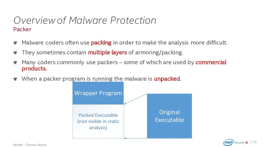 . McAfee – Thomas Roccia Packer Overview of Mal...