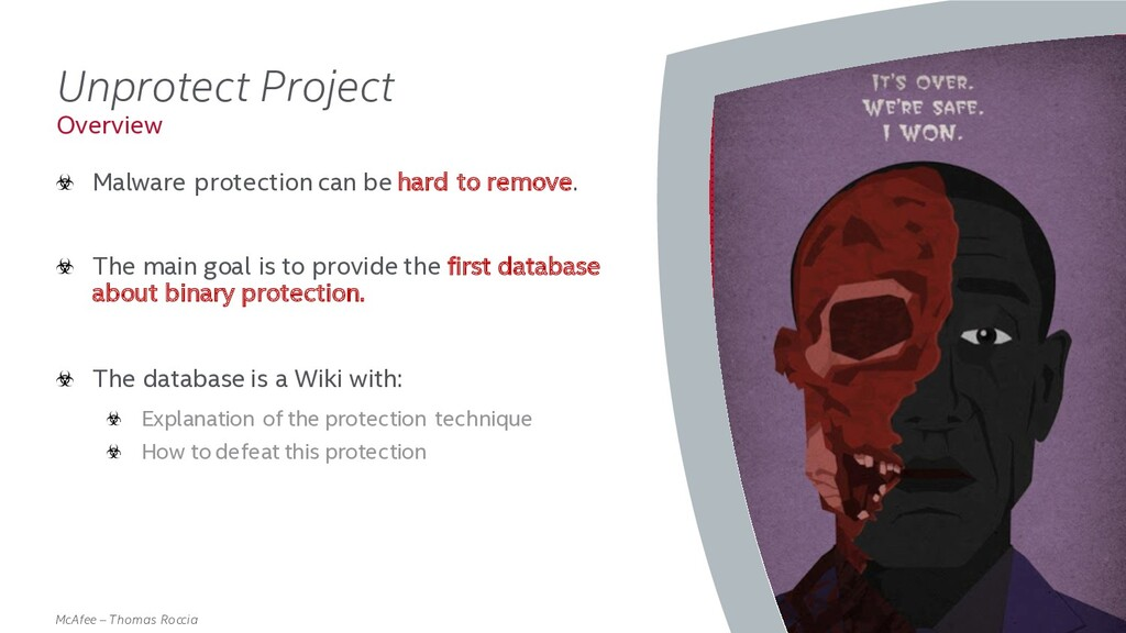 . McAfee – Thomas Roccia Unprotect Project Malw...