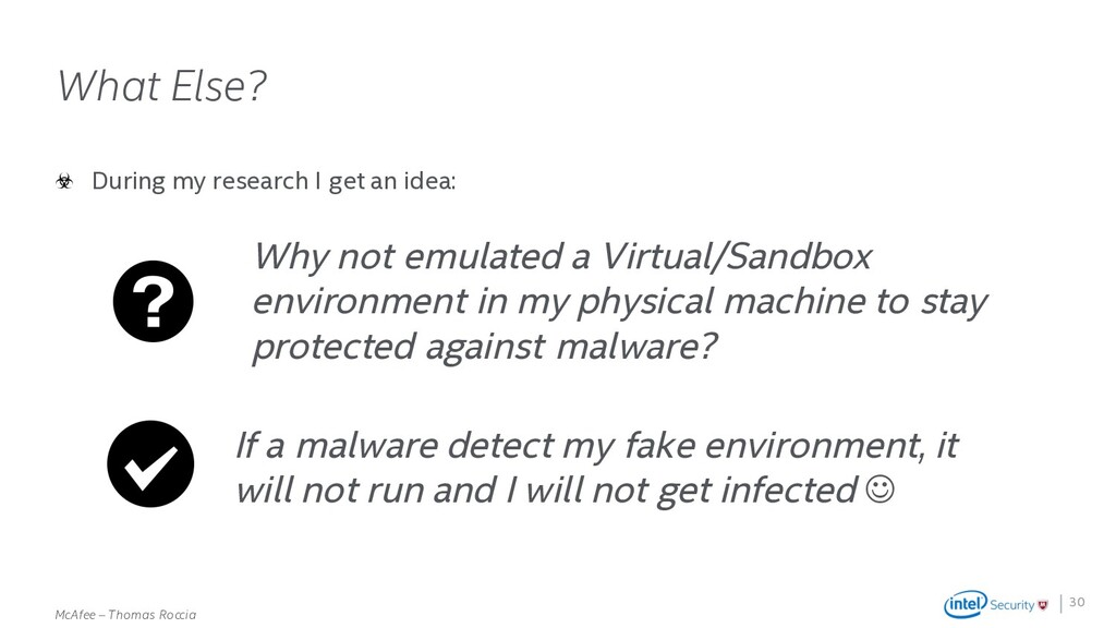 . McAfee – Thomas Roccia What Else? During my r...