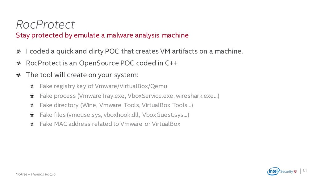 . McAfee – Thomas Roccia Stay protected by emul...