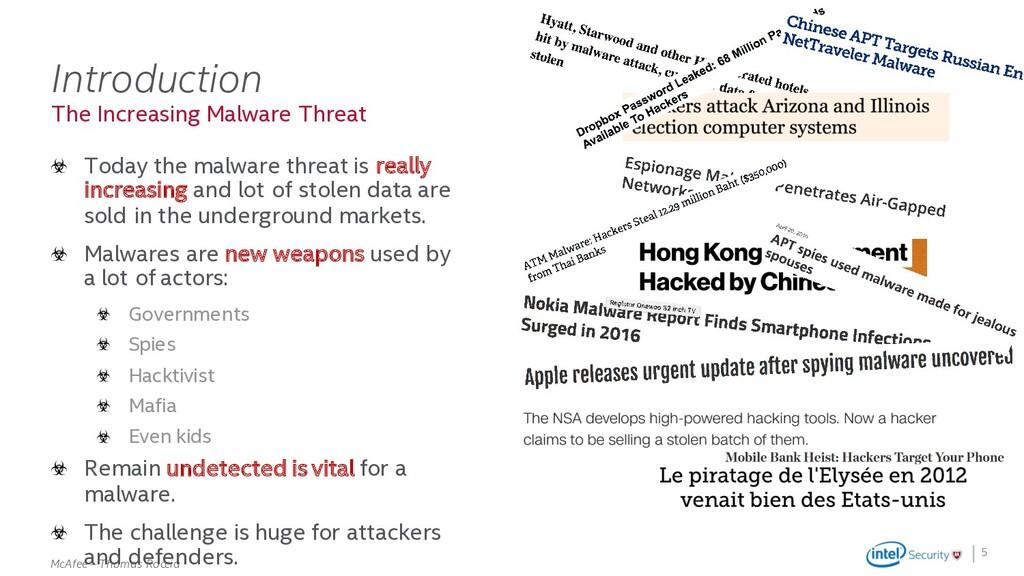 . McAfee – Thomas Roccia The Increasing Malware...