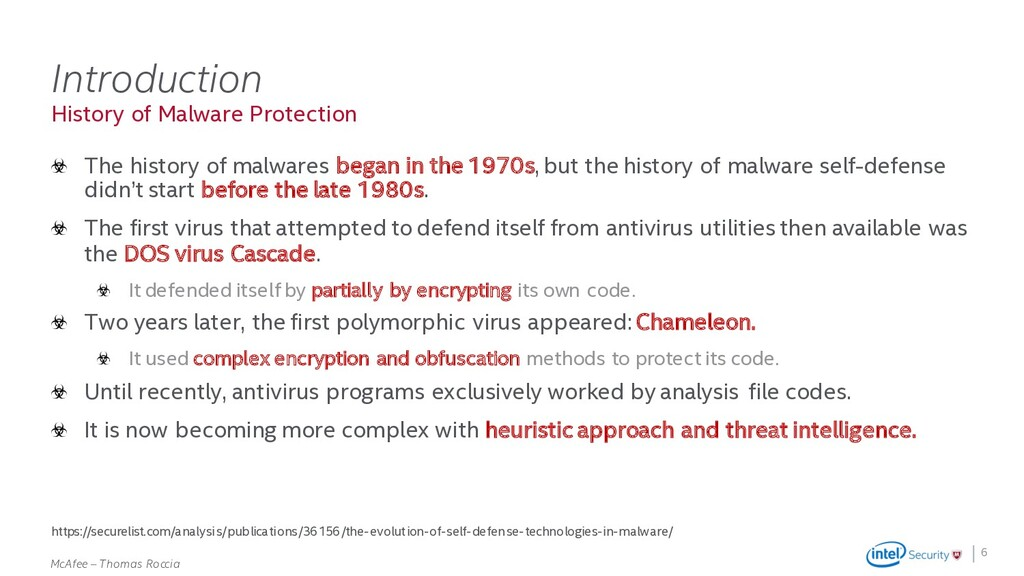 . McAfee – Thomas Roccia History of Malware Pro...