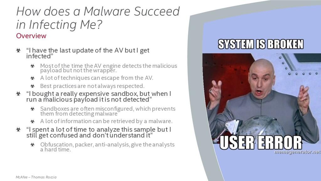 . McAfee – Thomas Roccia How does a Malware Suc...
