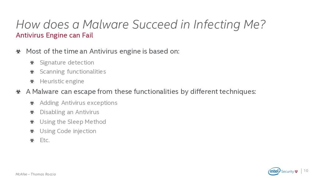 . McAfee – Thomas Roccia Antivirus Engine can F...