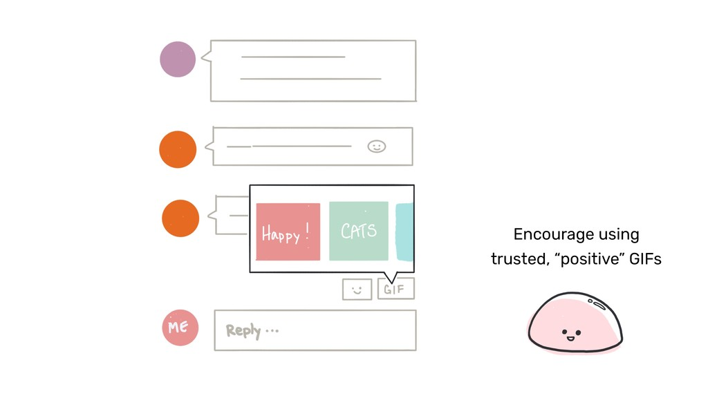 """Encourage using trusted, """"positive"""" GIFs"""