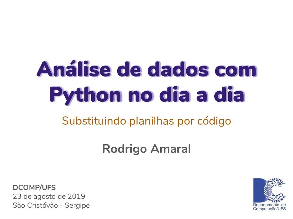 Análise de dados com Python no dia a dia Substi...