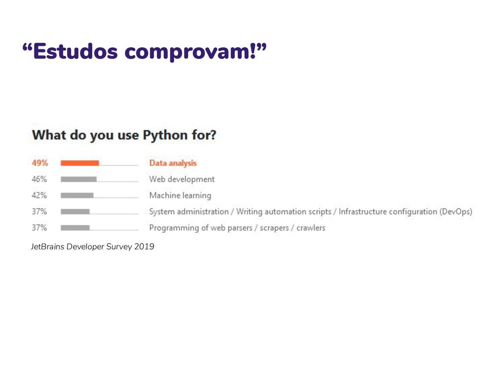 """""""Estudos comprovam!"""" JetBrains Developer Survey..."""