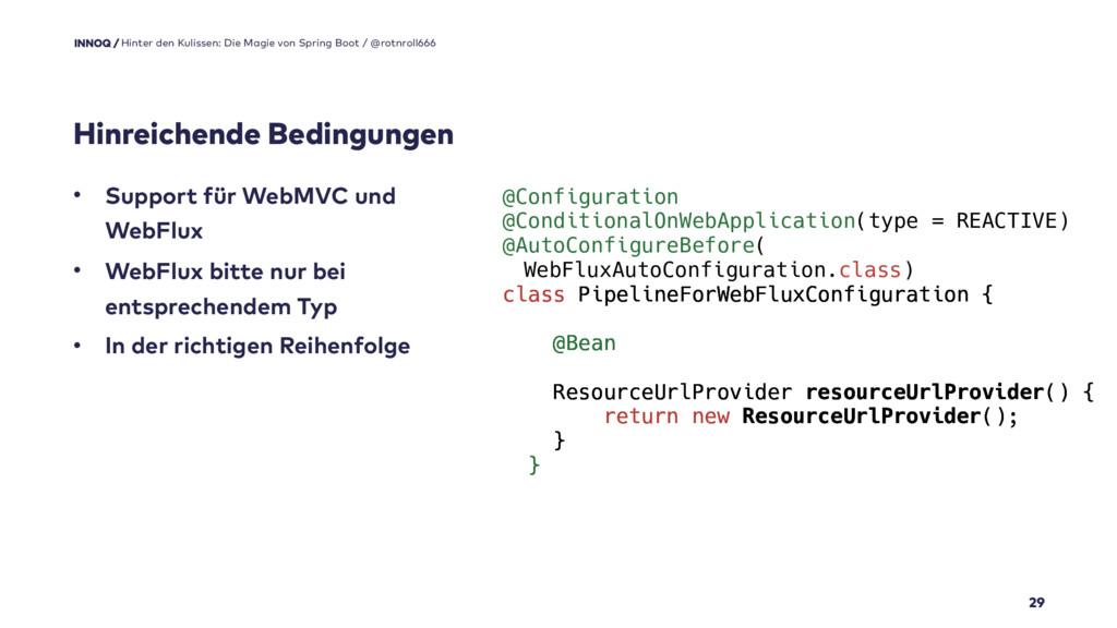 Hinreichende Bedingungen 29 • Support für WebMV...
