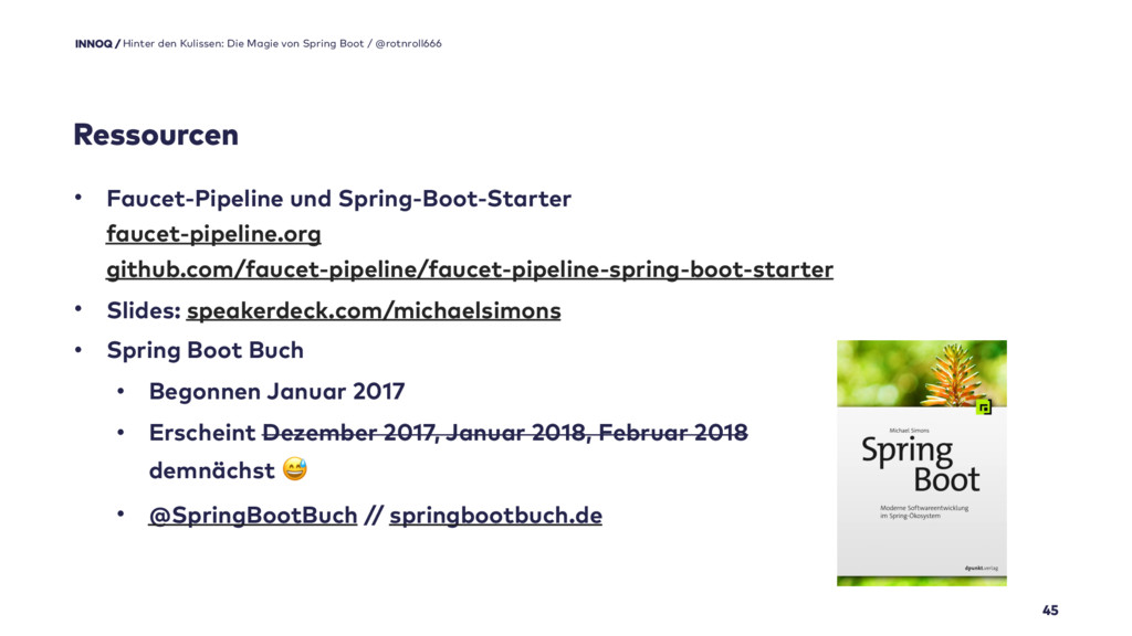 45 • Faucet-Pipeline und Spring-Boot-Starter