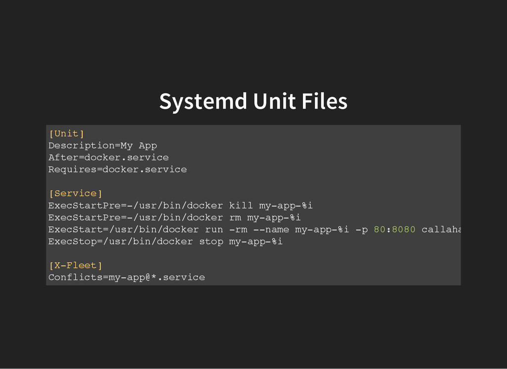 Systemd Unit Files [ U n i t ] D e s c r i p t ...