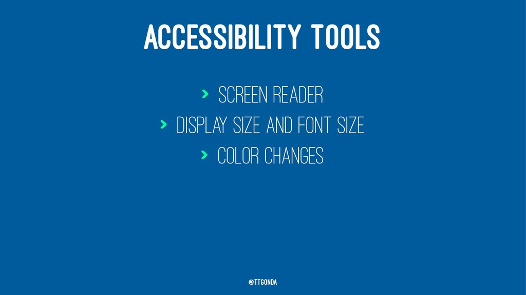 ACCESSIBILITY TOOLS > Screen reader > Display s...