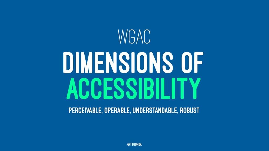 WGAC DIMENSIONS OF ACCESSIBILITY PERCEIVABLE, O...