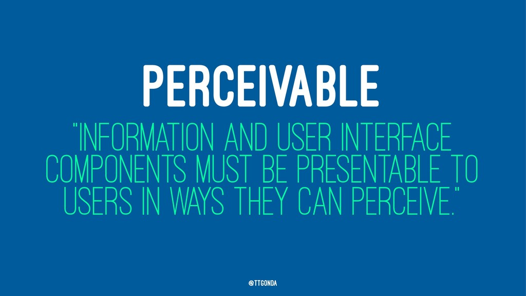 """PERCEIVABLE """"INFORMATION AND USER INTERFACE COM..."""