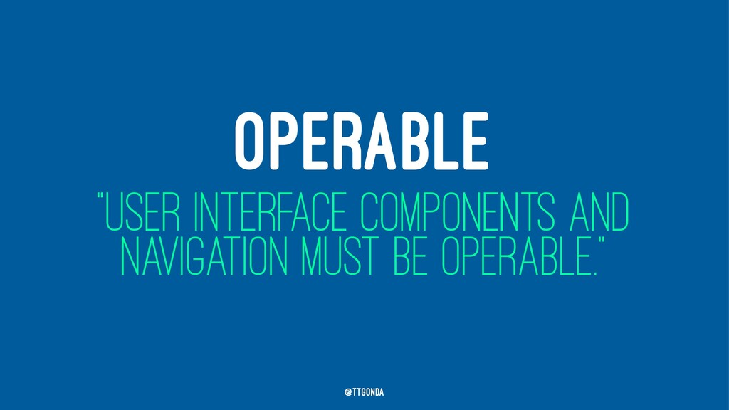 """OPERABLE """"USER INTERFACE COMPONENTS AND NAVIGAT..."""