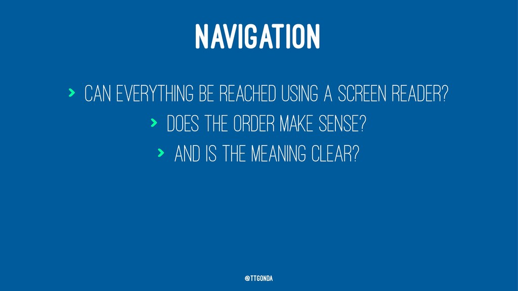 NAVIGATION > Can everything be reached using a ...