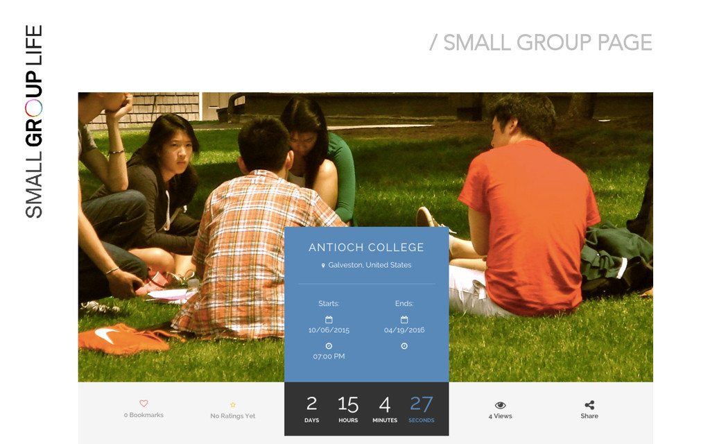 / SMALL GROUP PAGE