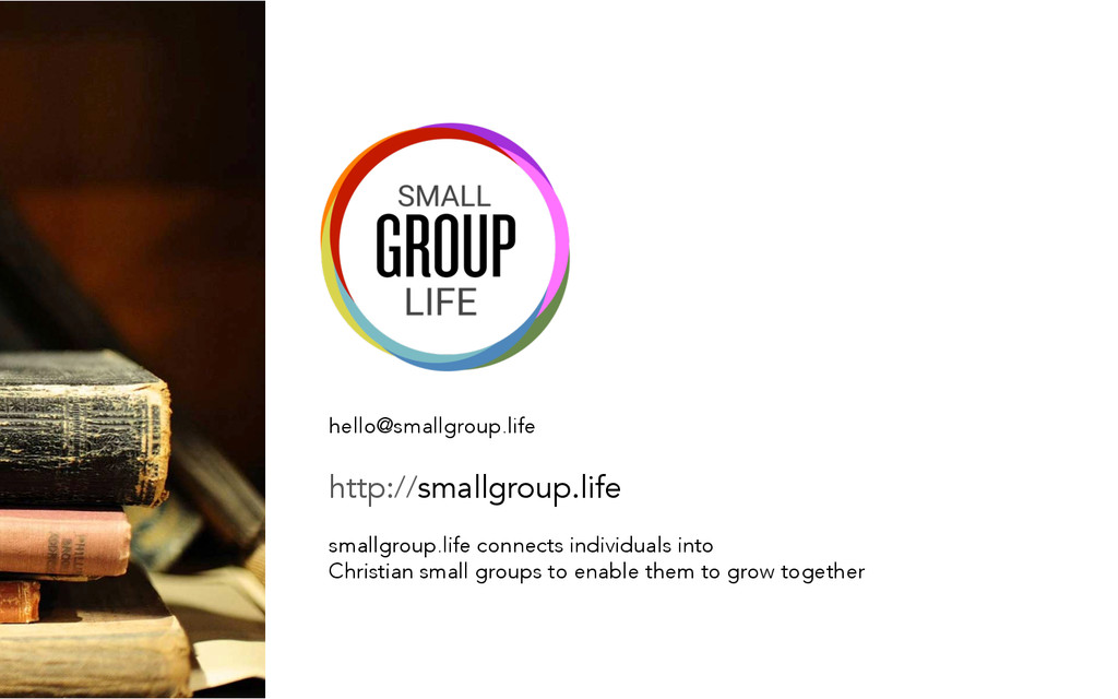 hello@smallgroup.life   http://smallgroup.li...