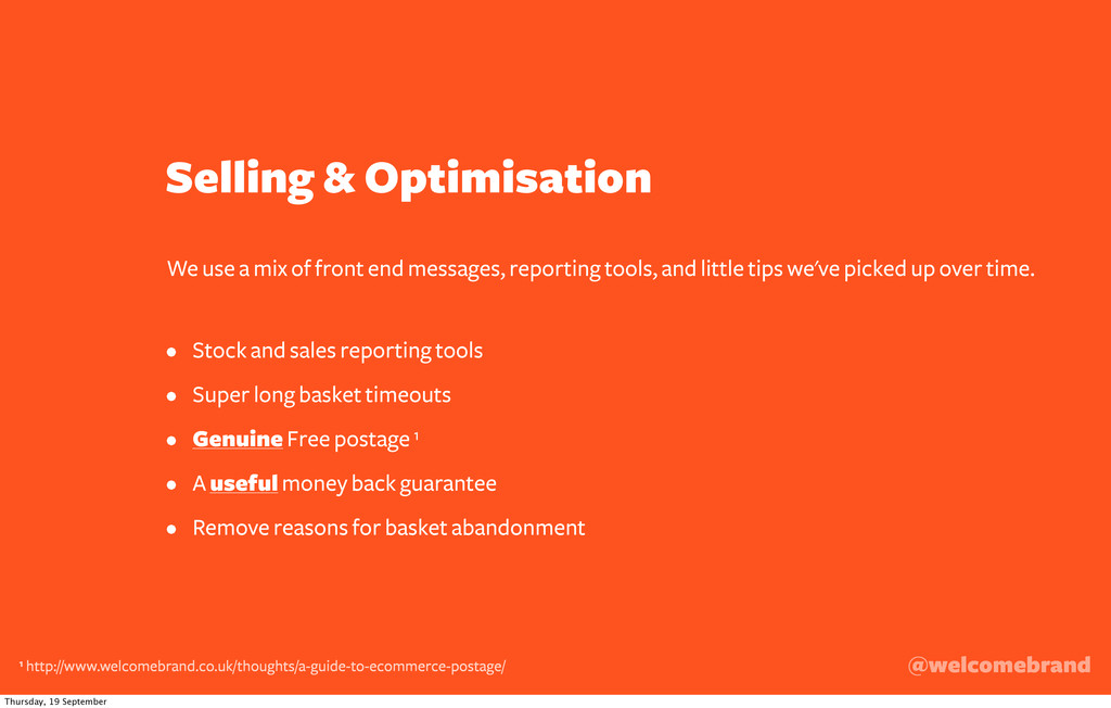 Selling & Optimisation • Stock and sales report...