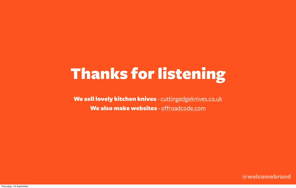 Thanks for listening @welcomebrand We sell love...