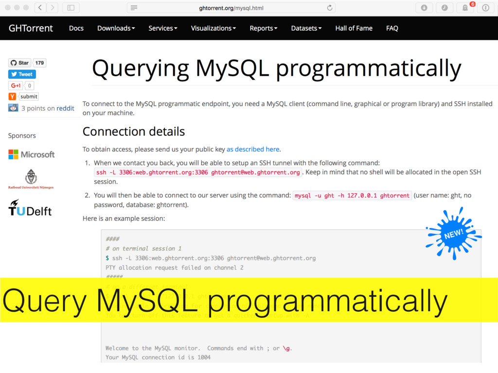 Query MySQL programmatically