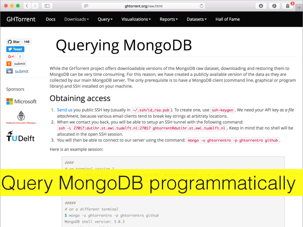 Query MongoDB programmatically