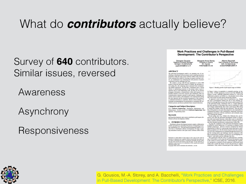 Survey of 640 contributors. Similar issues, rev...