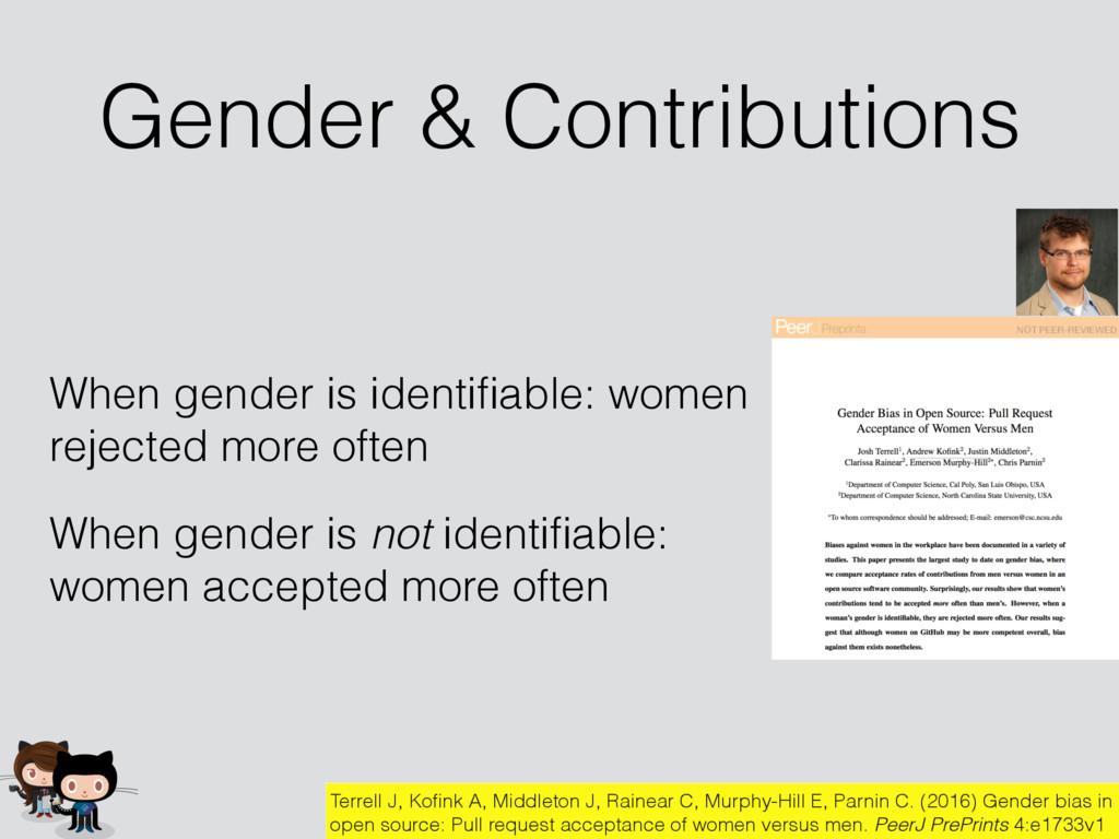 Gender & Contributions Terrell J, Kofink A, Midd...