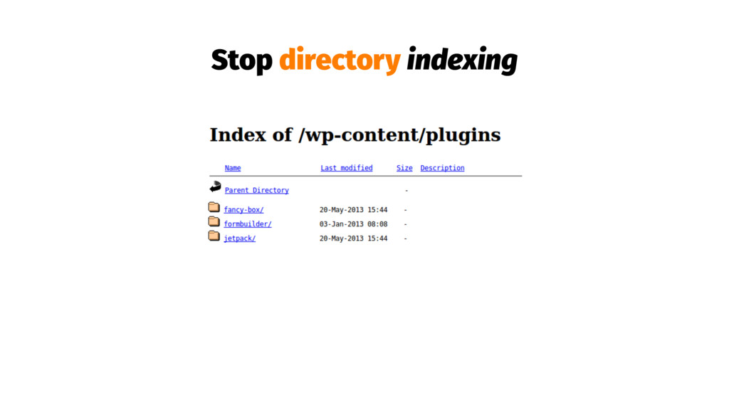 Stop directory indexing