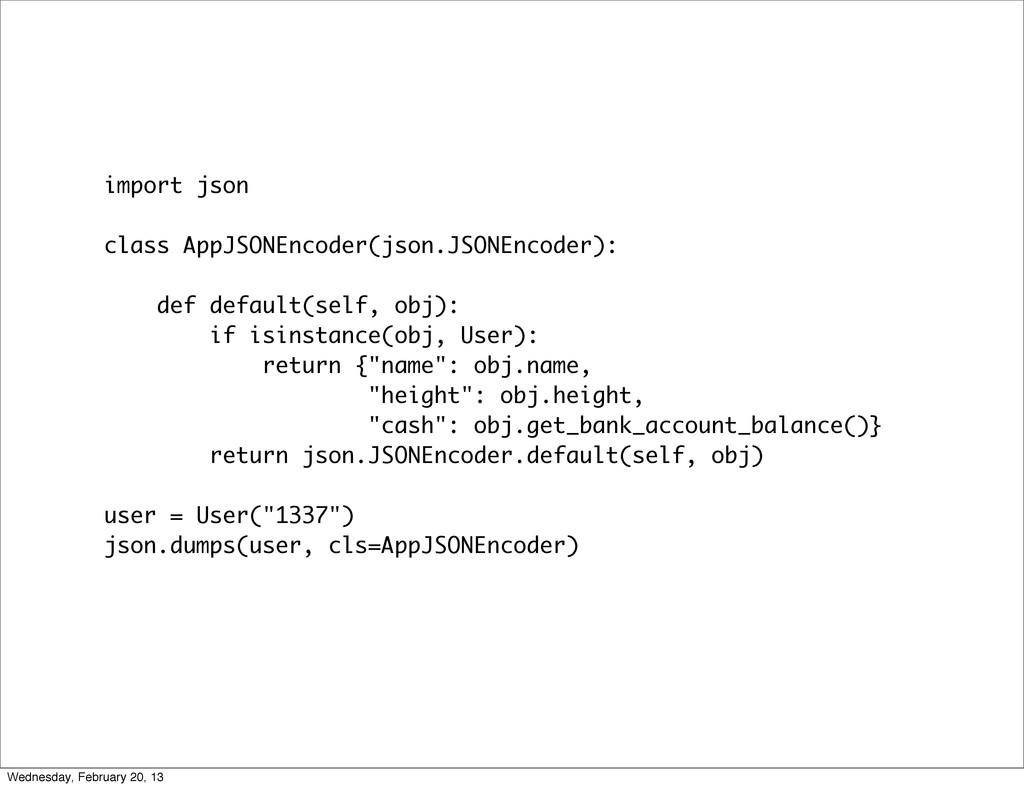 import json class AppJSONEncoder(json.JSONEncod...
