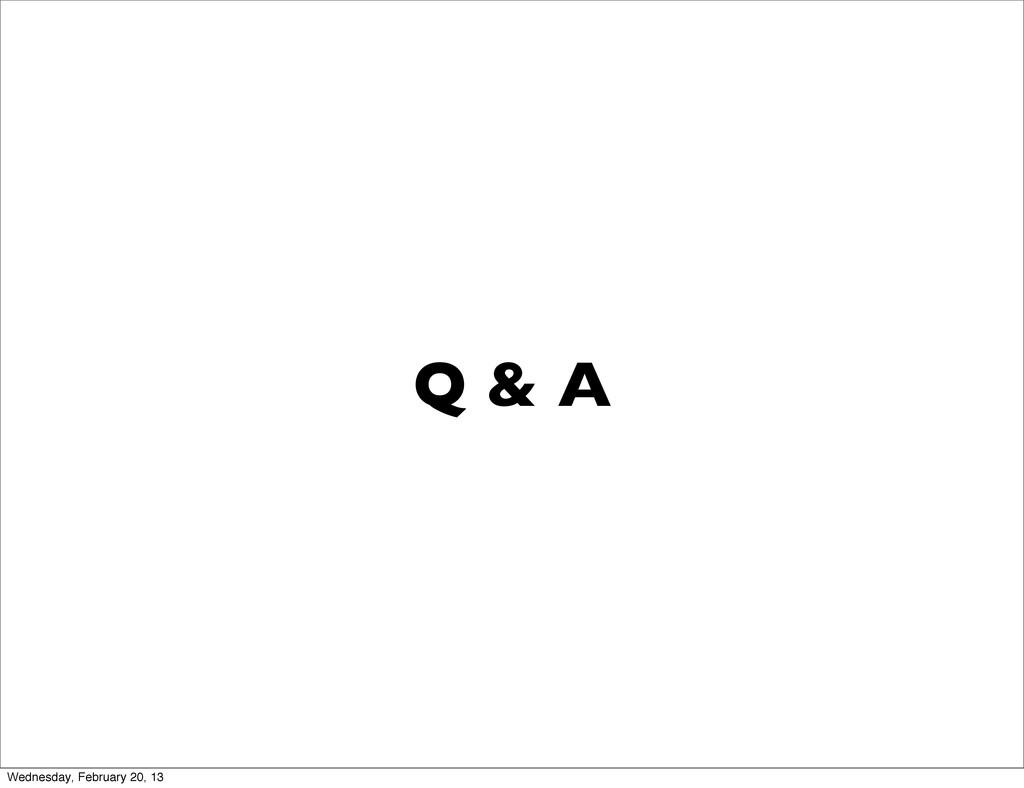 Q & A Wednesday, February 20, 13