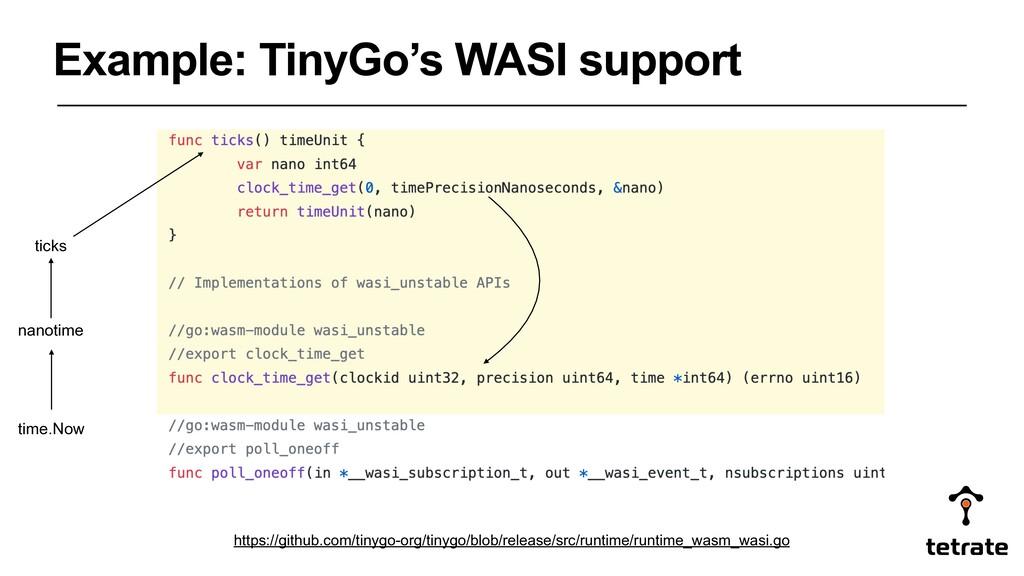 Example: TinyGo's WASI support https://github.c...