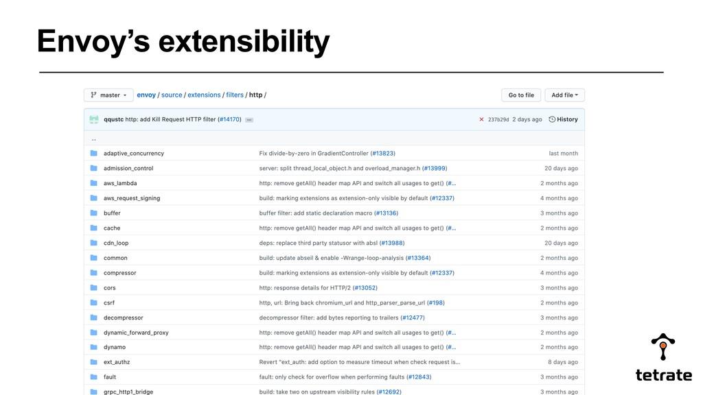 Envoy's extensibility
