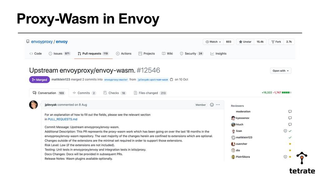 Proxy-Wasm in Envoy