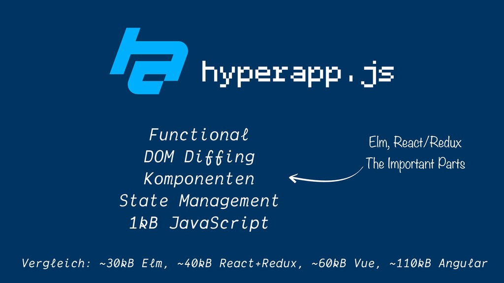 hyperapp.js Functional DOM Diffing Komponenten ...