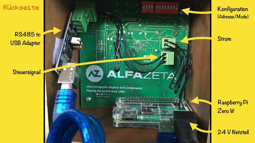 RS485 to USB Adapter Raspberry Pi Zero W Konfi...