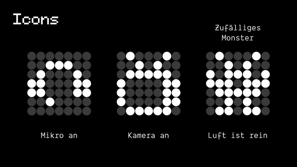 Icons Mikro an Kamera an Luft ist rein Zufällig...