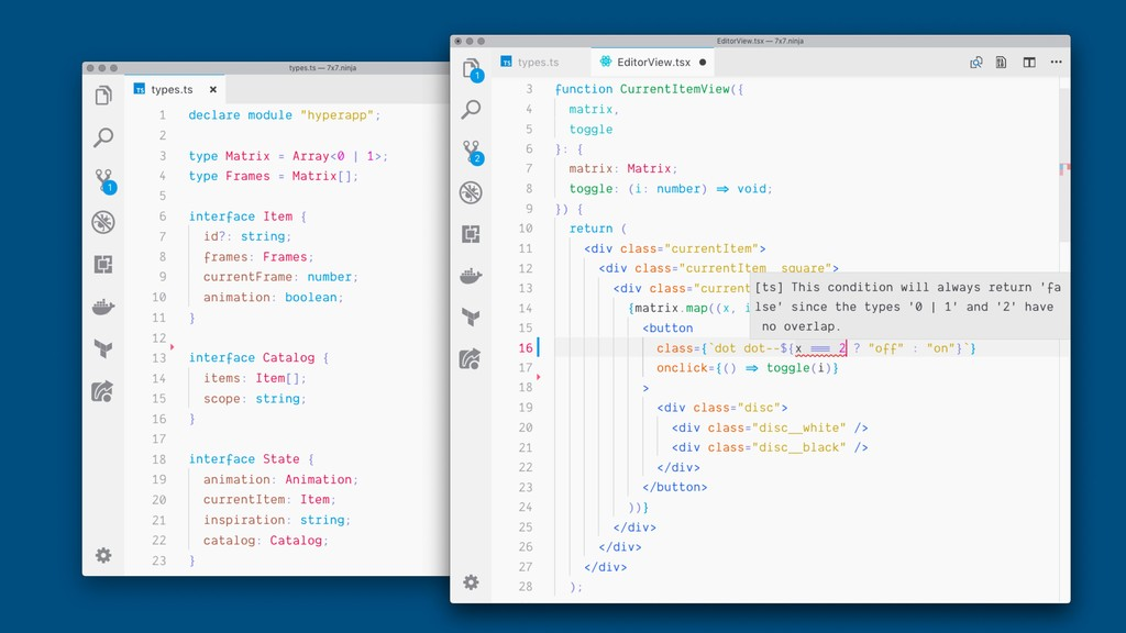 JavaScript + Types Tooling Support (VSCode, Int...