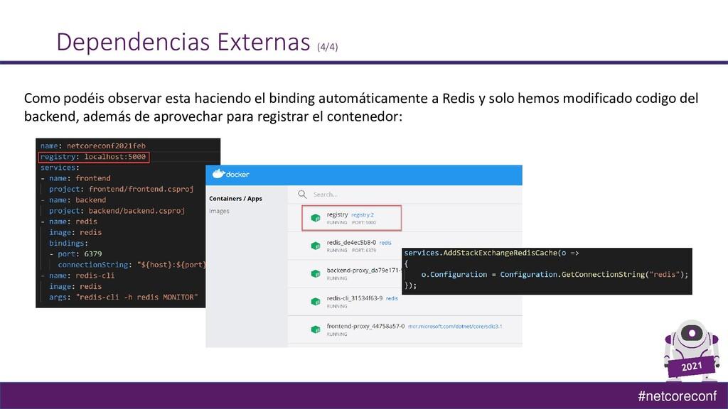 #netcoreconf Dependencias Externas (4/4) Como p...