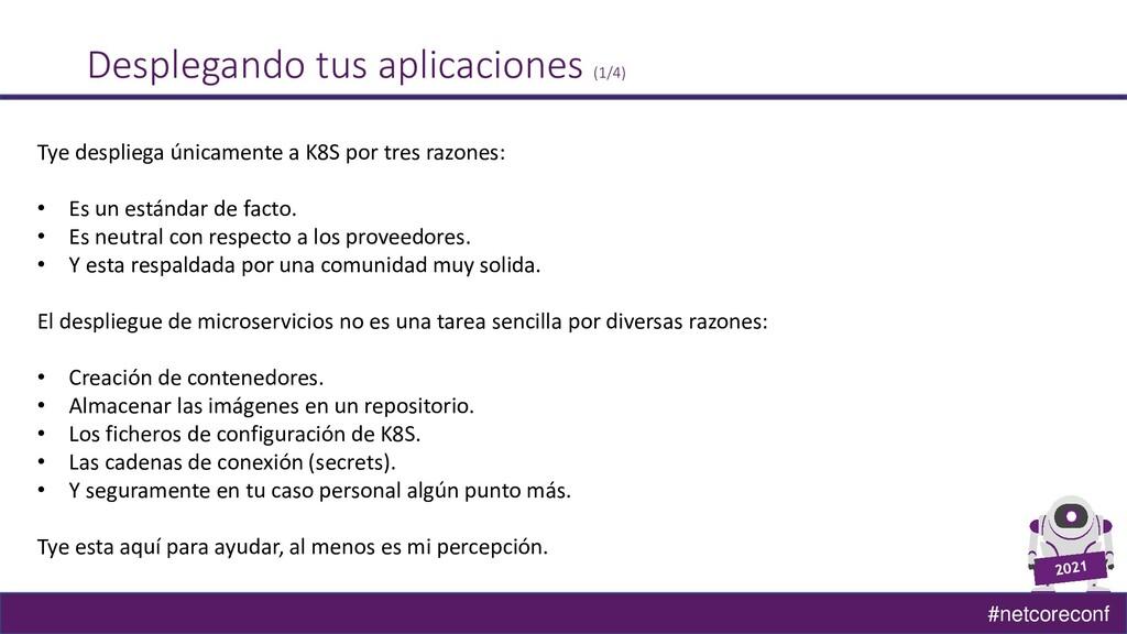 #netcoreconf Desplegando tus aplicaciones (1/4)...