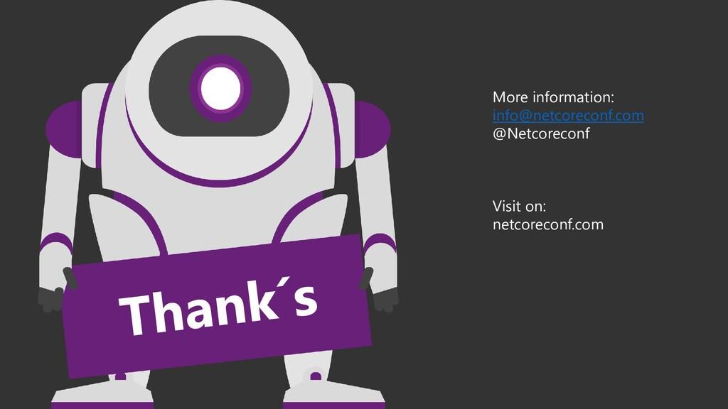 More information: info@netcoreconf.com @Netcore...