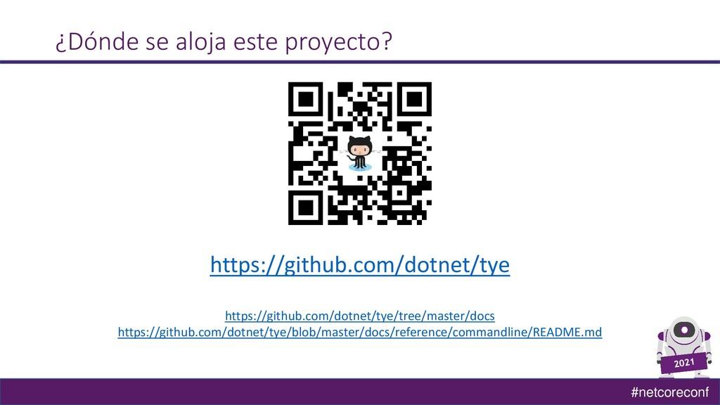 #netcoreconf ¿Dónde se aloja este proyecto? htt...