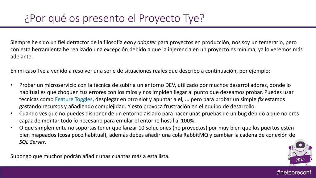 #netcoreconf ¿Por qué os presento el Proyecto T...