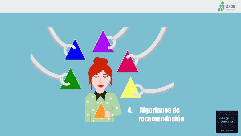 4. Algoritmos de recomendación